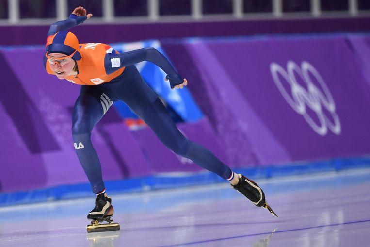Esmee Visser op weg naar olympisch goud. Beeld ANP