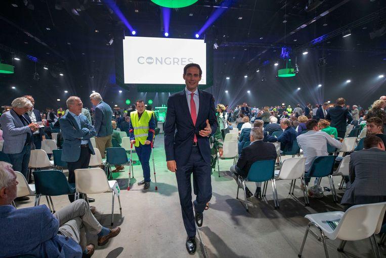 Wopke Hoekstra op het CDA-congres in Den Bosch.  Beeld Werry Crone