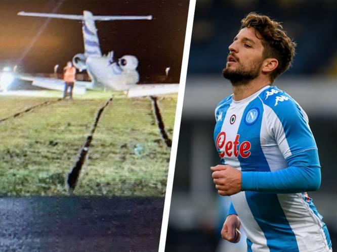 Dries Mertens komt met schrik vrij na mislukte landing met privéjet in Deurne