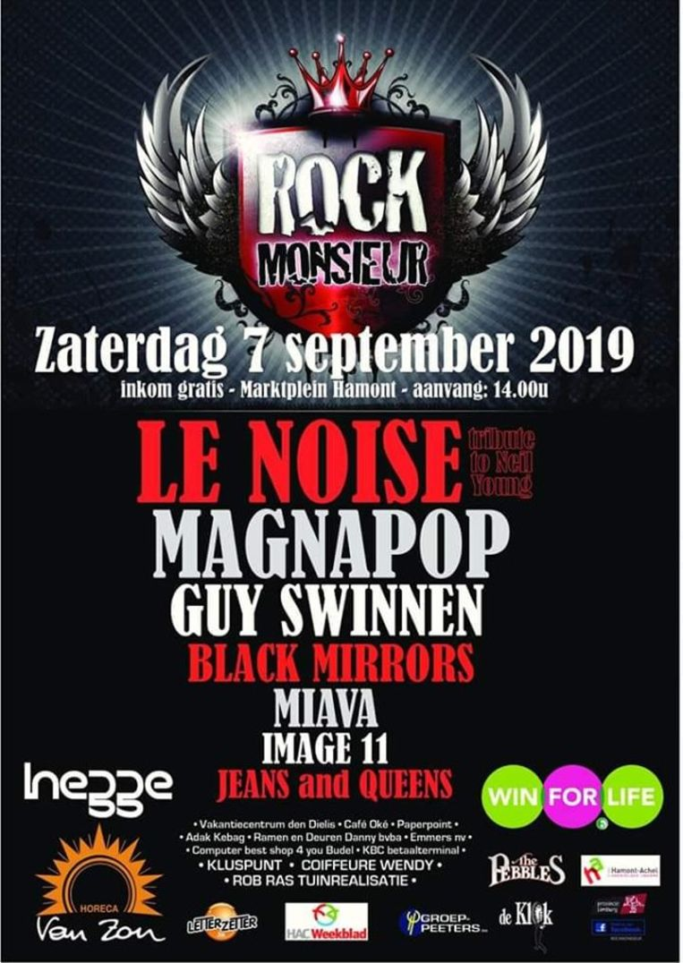 Affiche van Rock Monsieur
