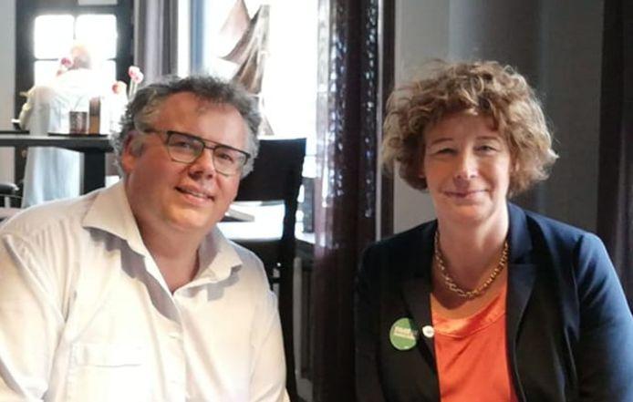 Matti Vandemaele wordt adviseur op het kabinet van Petra De Sutter. (Foto genomen tijdens Europese verkiezingscampagne, voor corona)