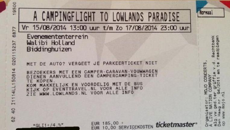 Ticket Lowlands. Beeld -
