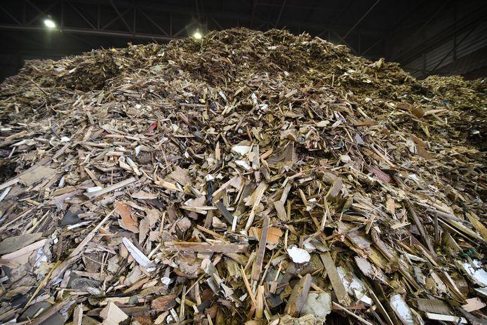 Houtsnippers vormen brandstof voor biomassacentrales.