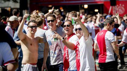Al volop sfeer in volgepakte fanzone Ajax