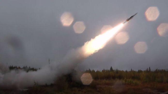 Een foto van het Russische ministerie van Defensie waarop de lancering van een BUK-raket te zien is.
