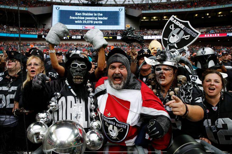 NFL-fans in Wembley. Beeld ap