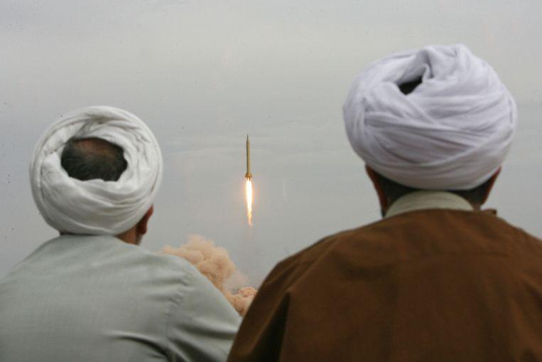 Iran test in 2006 de Shahab-3, een middellangeafstandsraket. Beeld AFP