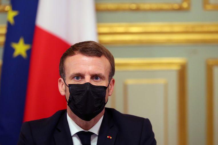 """Frans president Macron: """"We worden aangevallen wegens onze waarden van vrijheid en ons verlangen niet voor terreur te wijken."""