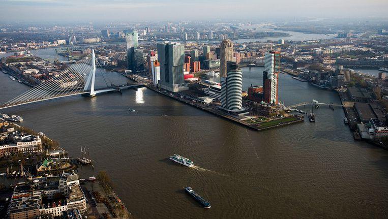 De skyline van Rotterdam Beeld anp