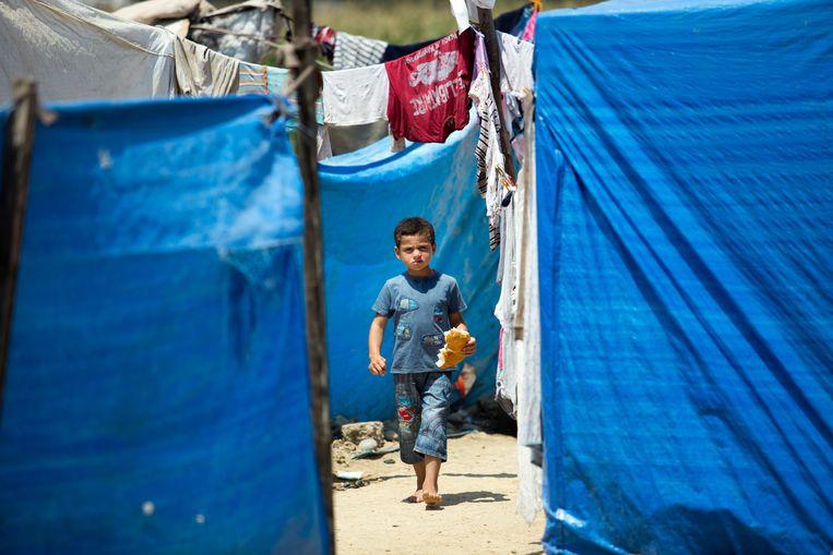Een Syrisch kind in een vluchtelingenkamp in Turkije. Beeld Getty Images