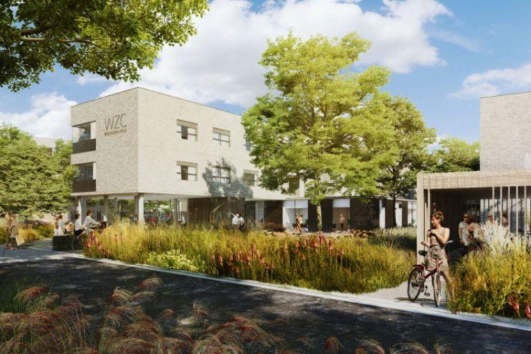 Een impressie van het toekomstige woonzorgcentrum Roosendaelveld in Mechelen.