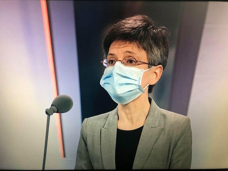 Antwerps gouverneur Cathy Berx op ATV. Beeld Screenshot ATV