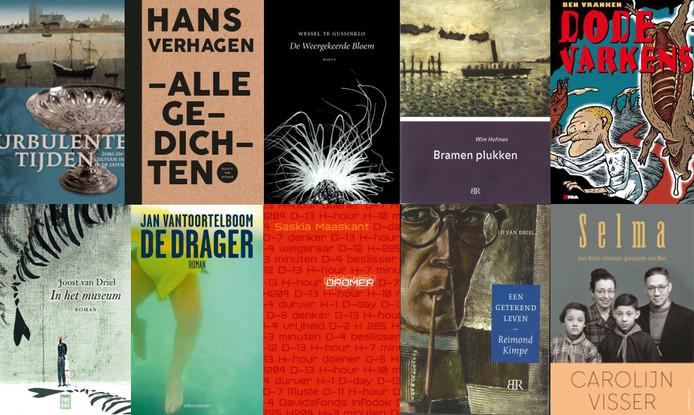 De tien titels die in aanmerking komen voor de Zeeuwse Boekenprijs 2017.
