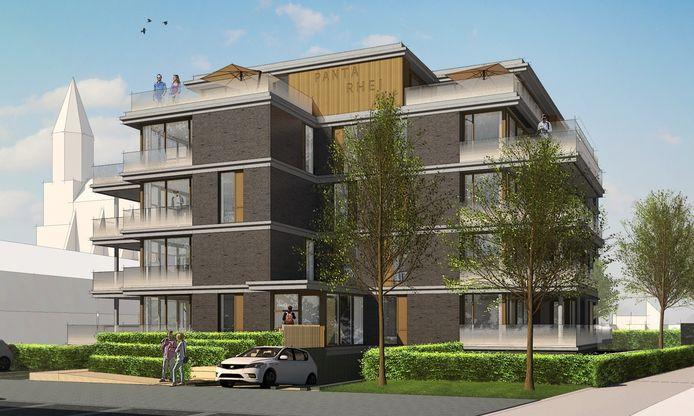 Een impressie van appartementencomplex Panta Rhei in Nuenen. Voorlopig komt dat er niet.