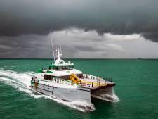 Damen mag dit schip in de VS niet zelf bouwen, toch vaart het straks over de Amerikaanse wateren