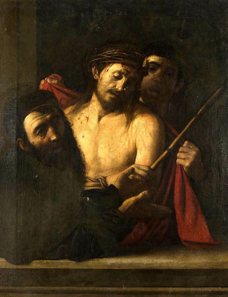 Het schilderij van de 17de eeuwse Spaanse schilder José de Ribera, maar sommige handelaren en geleerden geloven dat het een Caravaggio is.  Beeld Ansorena Auction