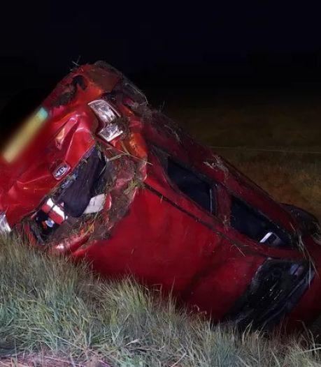 Automobilist naar het ziekenhuis na crash op A58