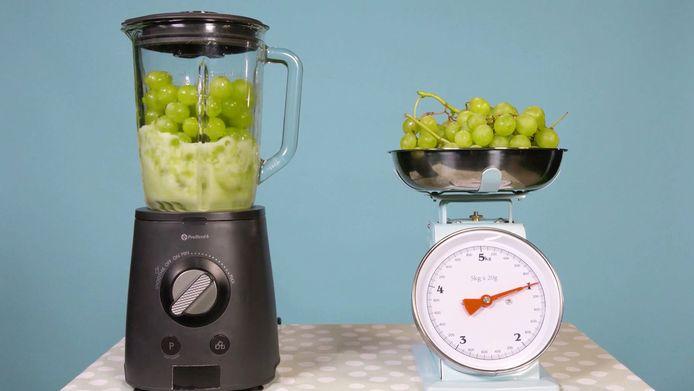 Een kilo druiven los of een kilo druiven tot moes geslagen: een heel verschil voor het gevoel van verzadiging.