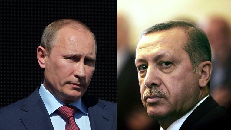 Russische president Poetin en Turkse president Erdogan Beeld EPA/AFP