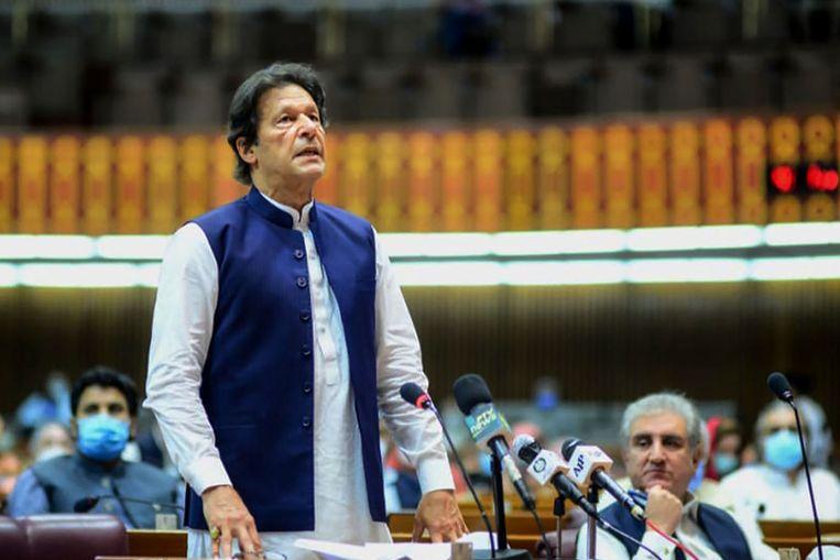De Pakistaanse premier Imran Khan. Beeld AFP