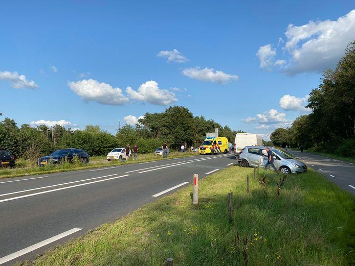 Foto ter illustratie van de N35 bij Haarle. Regelmatig gebeuren er ongelukken op de rijksweg.