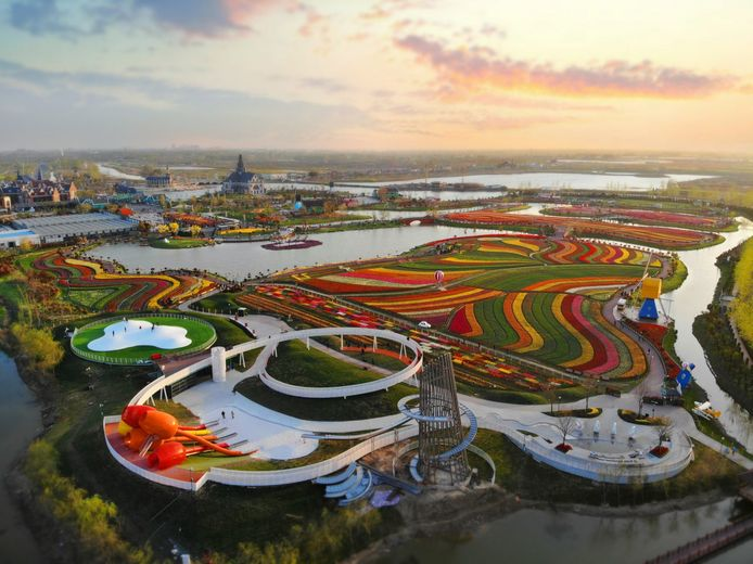 Dafeng Holland Flower Park in China.