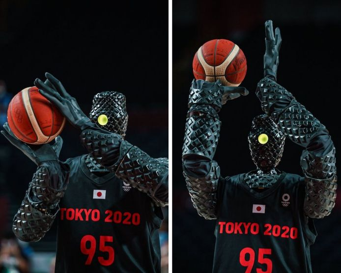 Toyota présente un robot basketteur qui réussi tous ses paniers.