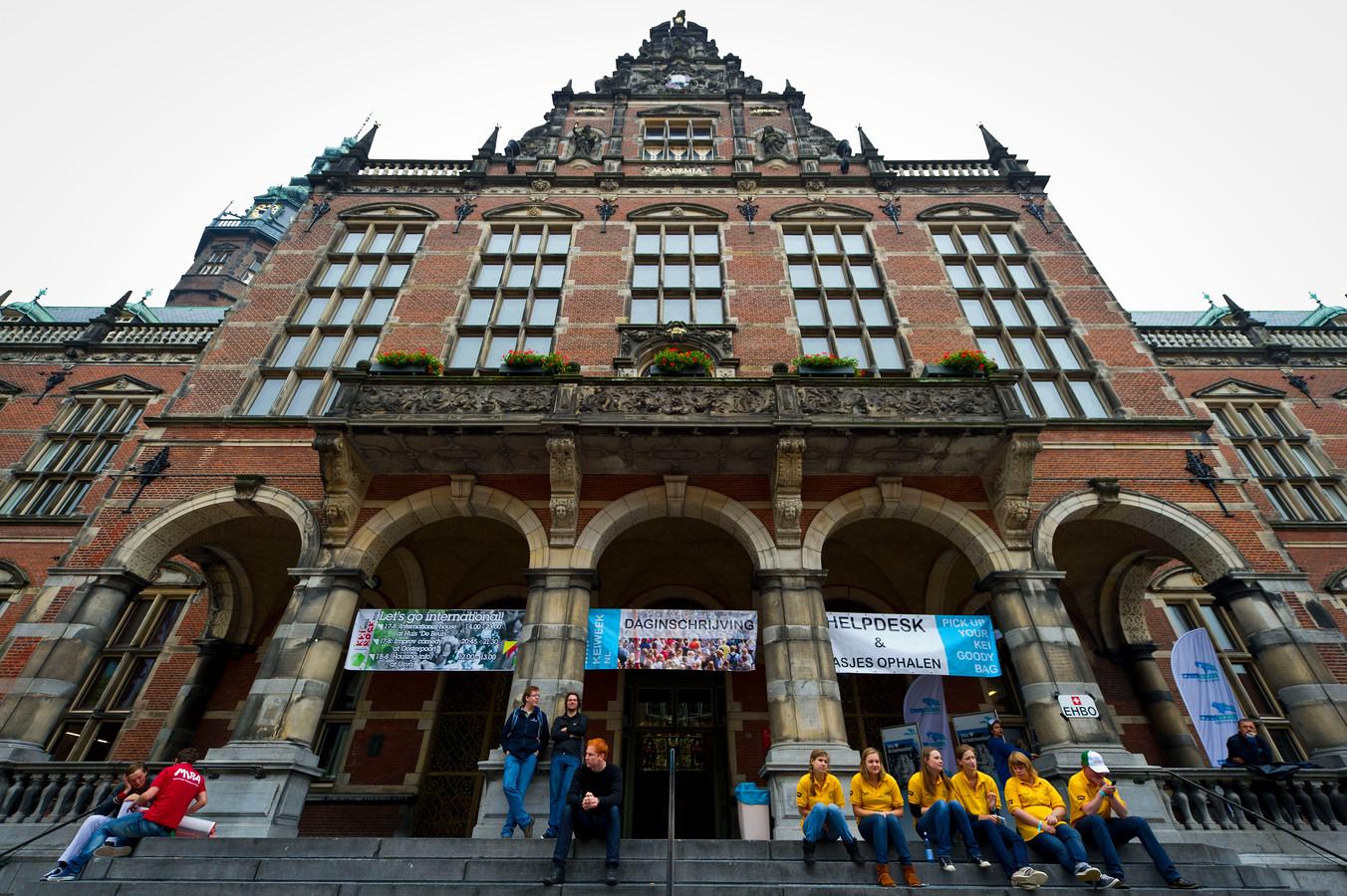 Het academiegebouw van de universiteit Groningen