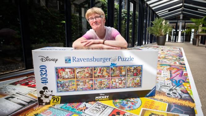 Marieke legt 'grootste puzzel ter wereld': 'Een uit de hand gelopen corona-hobby'