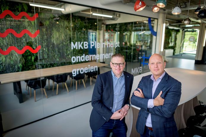 Lennart Dogger (rechts) en Vincent Jansen van het nieuwe MKB Plein.