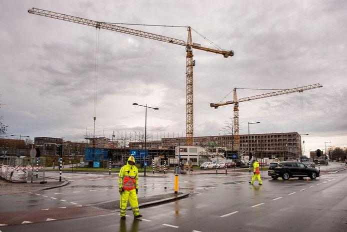 Nieuwbouw vlakbij het NS-station van Breda, eerder dit jaar.