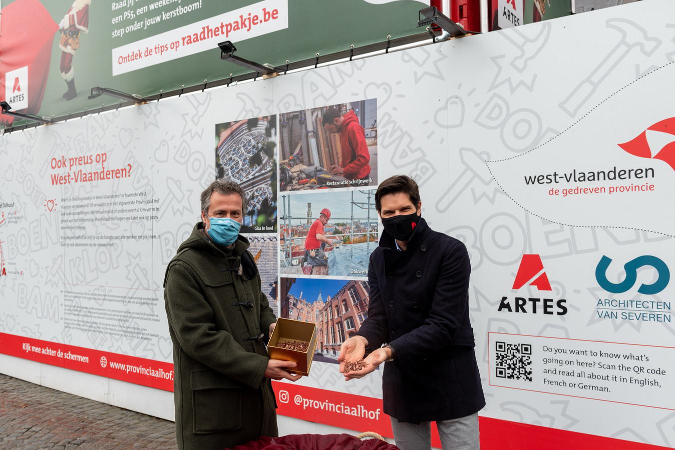 Gedeputeerde Bart Naeyaert en Jan De Moor van Artes Group.