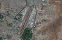 Een van afgelopen vrijdag daterende satellietfoto van de luchthaven van Kaboel.