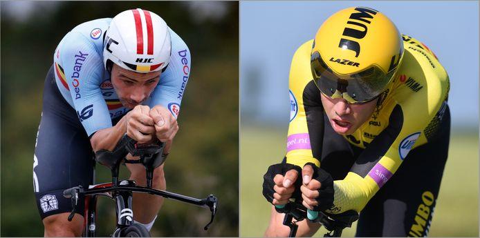 Victor Campenaerts en Wout van Aert strijden om deelname aan de olympische tijdrit.
