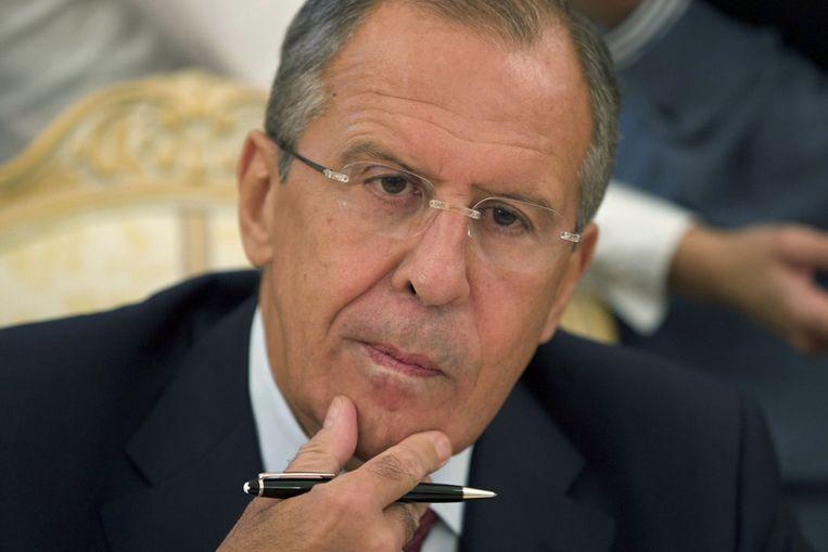 Sergei Lavrov, de Russische minister van Buitenlandse Zaken. Beeld ap