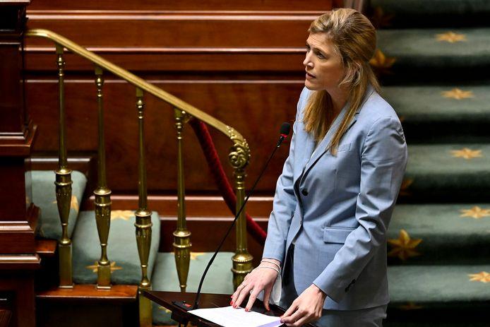 Minister van Binnenlandse Zaken Annelies Verlinden (CD&V) donderdag in de Kamer