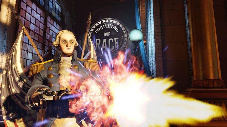 De robo-Washingtons van 'Bioshock Infinite' Beeld 2K Games
