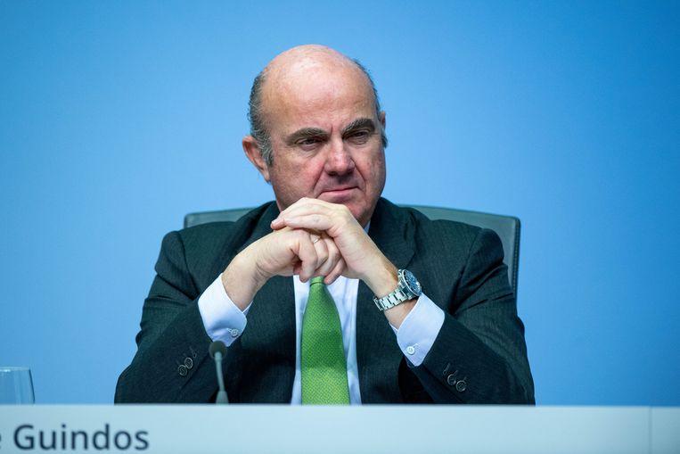 Vicepresident van de ECB Luis de Guindos. Beeld BELGAIMAGE