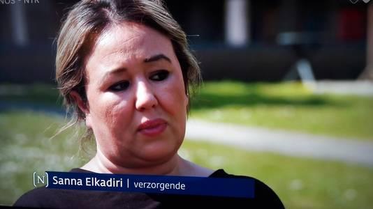 Sanna Elkadiri, verzorgende in Het Wereldhuis in Boxtel.