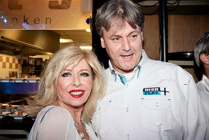 Bonnie St. Claire en haar partner Anne-Jan Jongebloed in 2011.