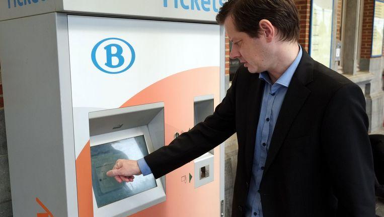Een (onbemande) ticketautomaat. Beeld BELGA