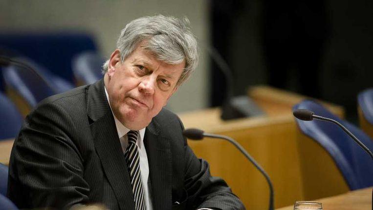 Minister van Veiligheid en Justitie Ivo Opstelten, waar de Kamervragen naar zijn gericht. Beeld anp