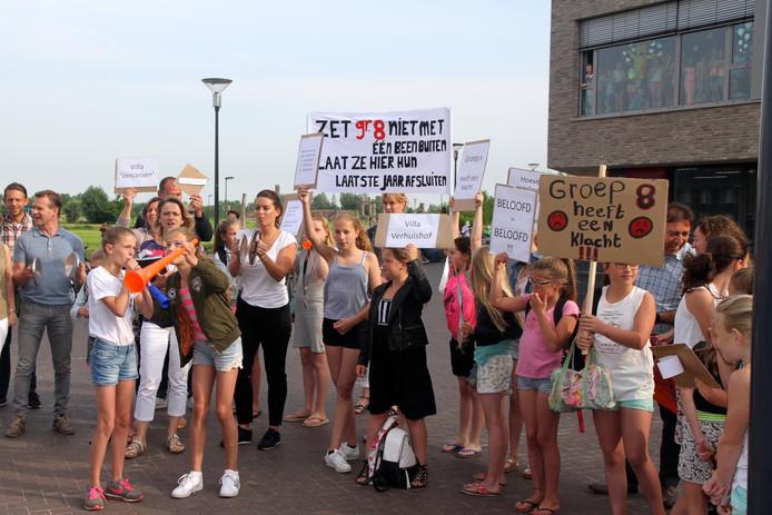 Protestactie van groep 7.