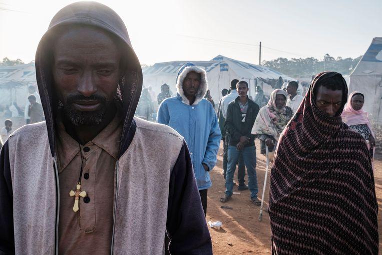 Vluchtelingen in West-Ethiopië. Beeld AFP