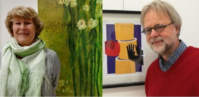 Milena Tlustá en Roel Ottow uit Apeldoorn zijn de eerste kunstenaars in de digitale Kunstestafette