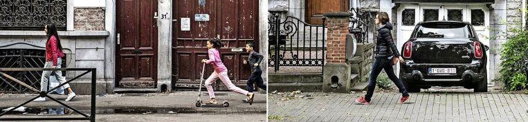 Ook in Brussel is er een duidelijke scheiding tussen arme en rijke buurten. 'Onze overheden streven op papier sociale mix na, maar werken de ongelijkheid niet weg', zegt stadssocioloog Stijn Oosterlynck (UA). Beeld bas bogaerts