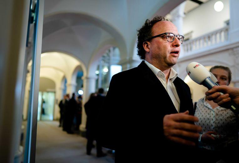 Minister Wouter Koolmees (sociale zaken en werkgelegenheid, D66) na afloop van de wekelijkse ministerraad.  Beeld ANP