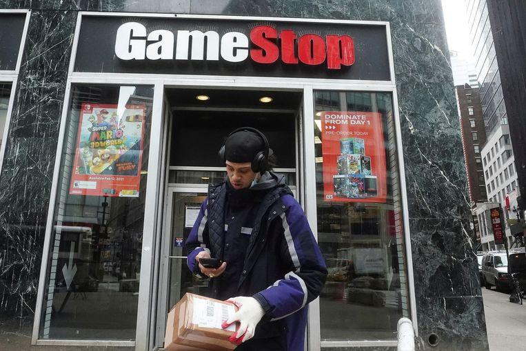 De afgelopen tijd explodeerden zelfs de koersen van zwaar verliesgevende bedrijven, zoals de koersstijging van 1.500 procent voor het aandeel GameStop. Beeld REUTERS