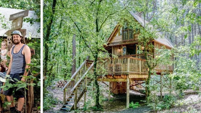 """Karen (35) en Bram (36) bouwden luxe sprookjeshut in een bos in Retie: """"Zelfs de dakpannen zijn van hout gemaakt"""""""
