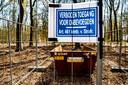 Het is verboden om in de buurt te komen van de Epser brandbom.